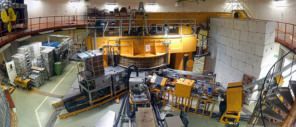 The Gustaf Werner cyclotron in the accelerator hall